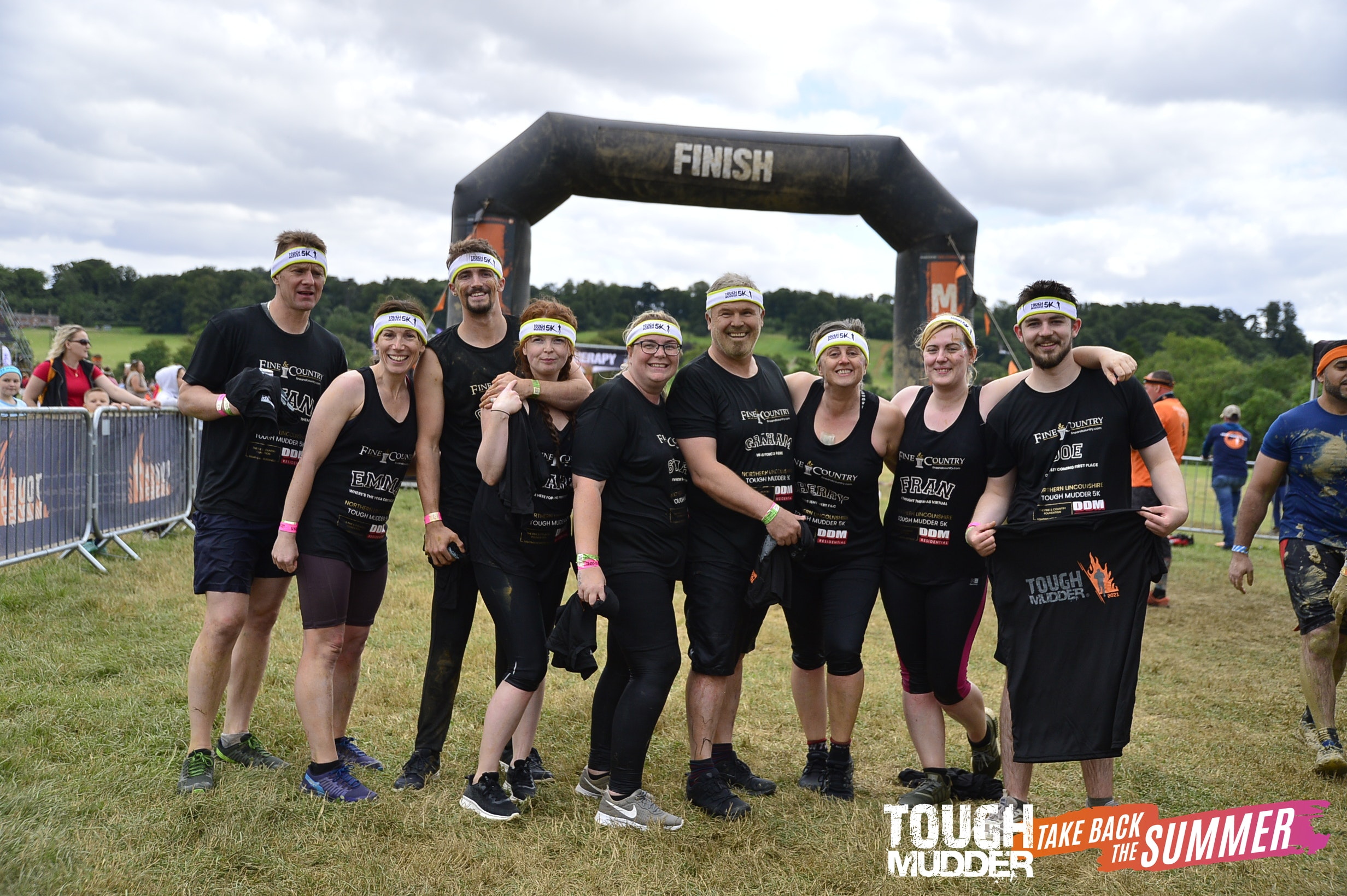 Team at Fine & Country Northern Lincolnshire at Tough Mudder