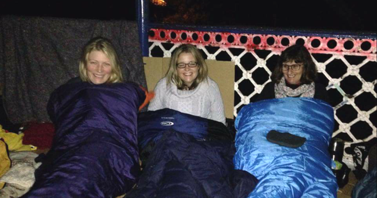 Wrap up warm: Helping Hands Sleep Out