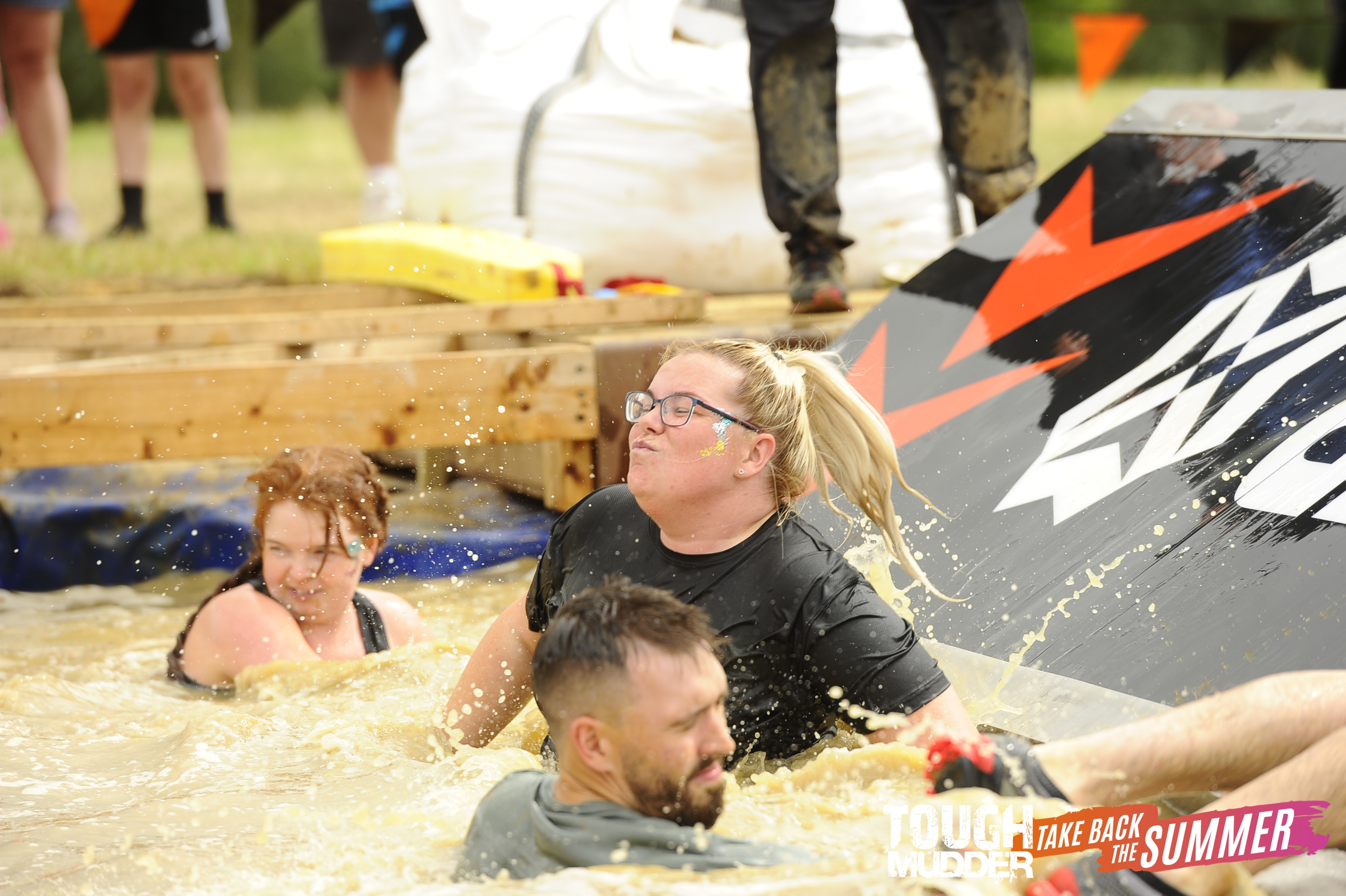 Katie and Maria from Fine & Country Northern Lincolnshire fundraising for charity at Tough Mudder