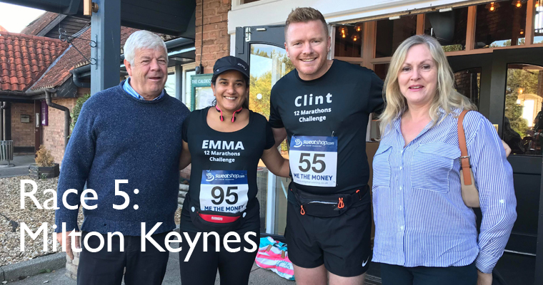 Almost halfway: race five, Milton Keynes