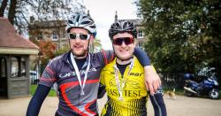 Richard Meyerowitz completes 2,500 mile cycle challenge