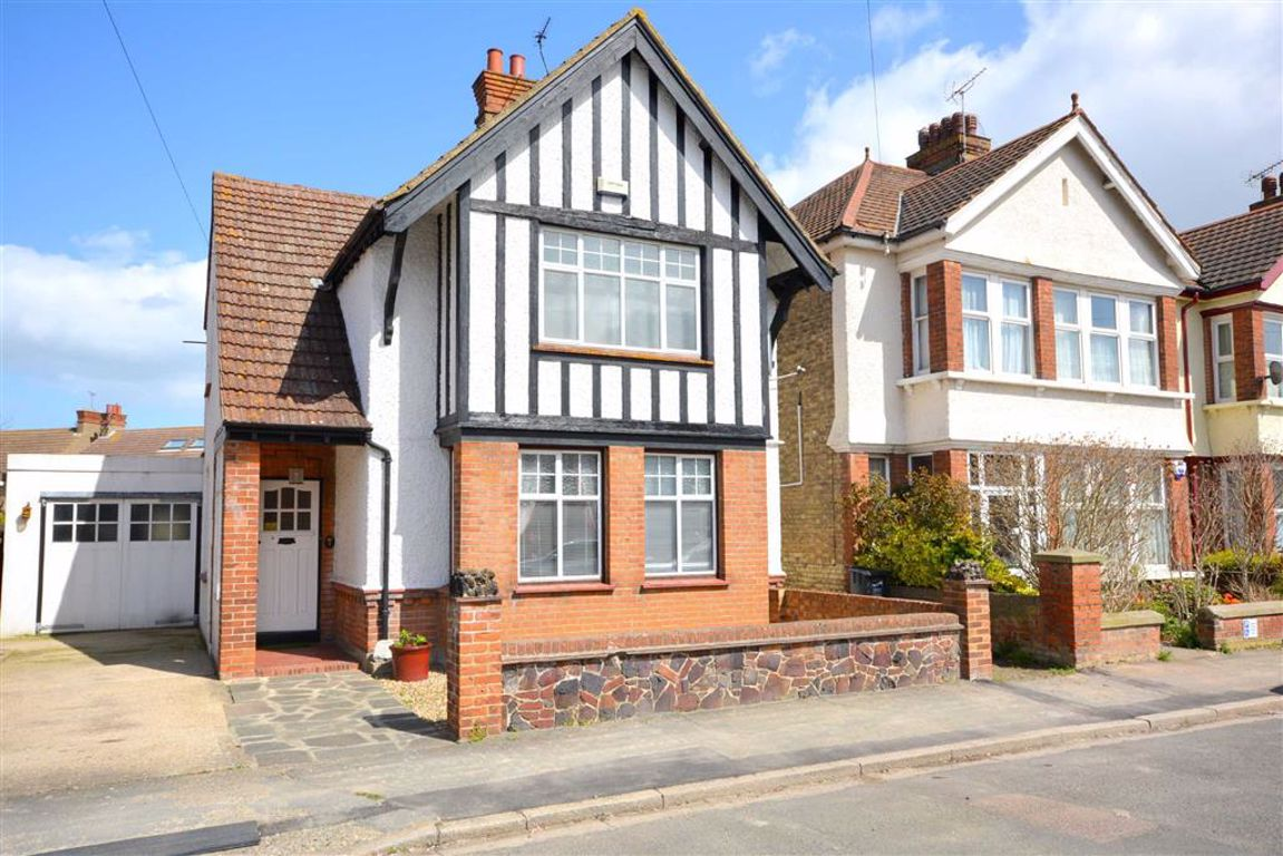 beautiful detached family Victorian black and white front home with box bay window