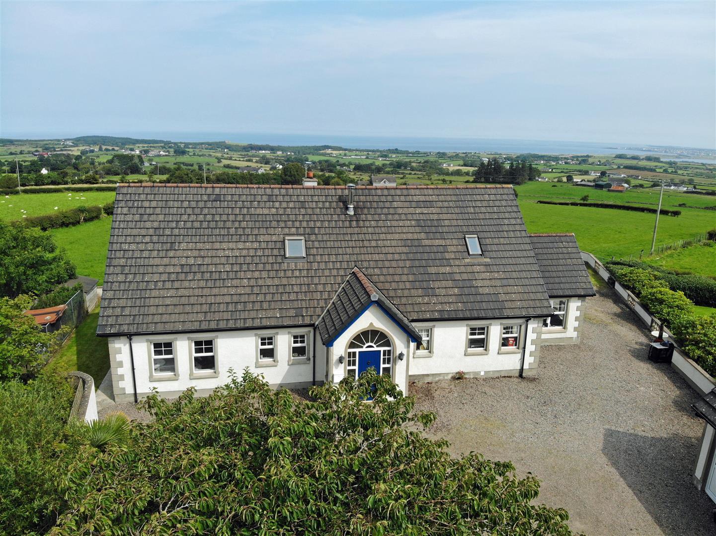 countryside unique duplex bungalow house with coastal views