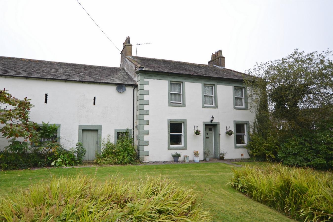 Cumbria white sage green country period home