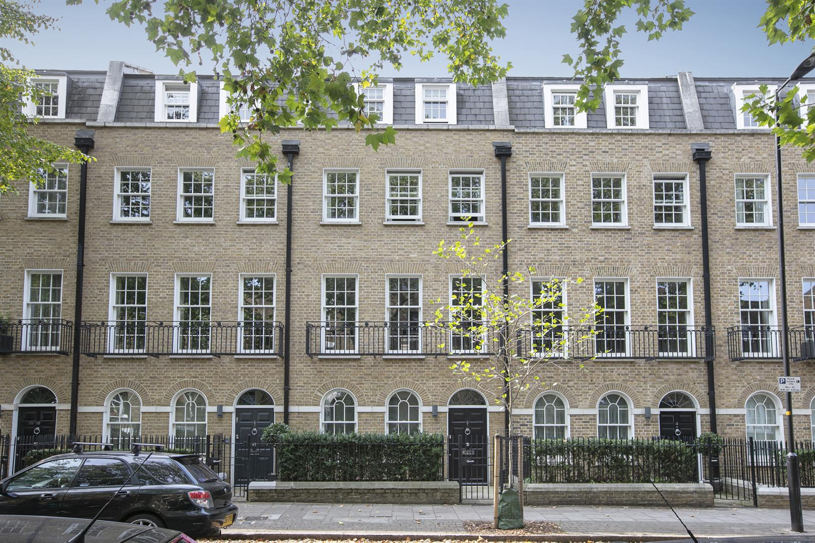 elegant terraced houses in Camberwell Grove, London