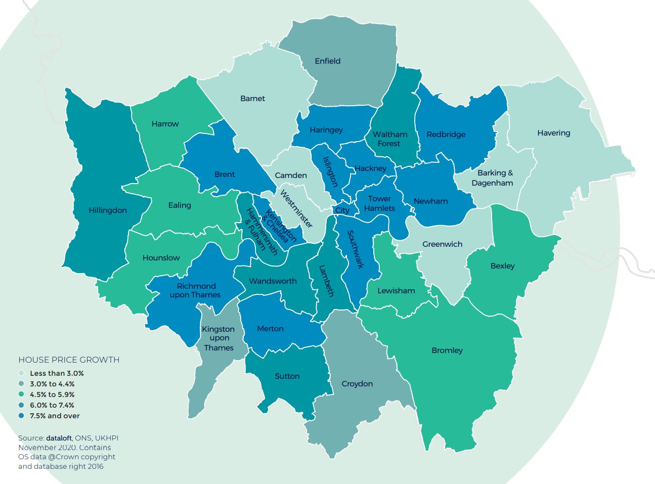 London regional property market report house price growth