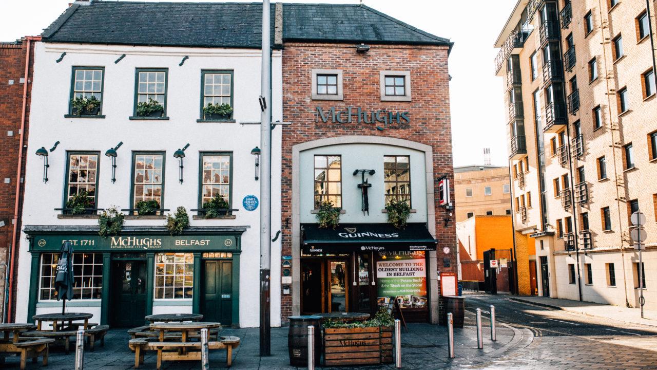 McHughs pub in Belfast