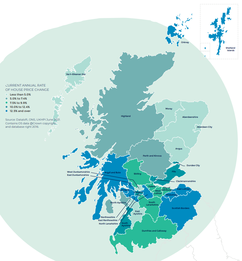 Scotland Autumn regional property market report map UK