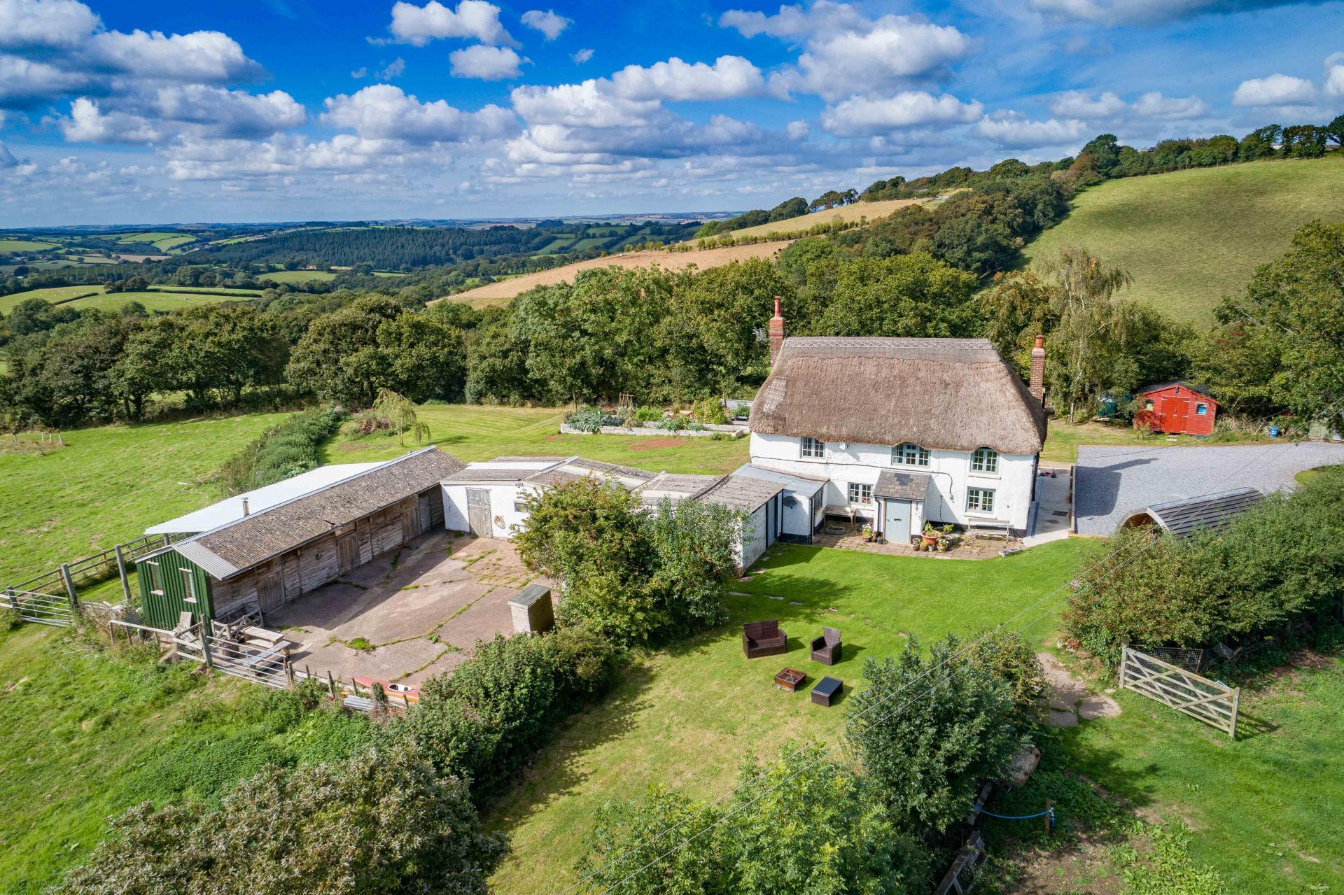 Smallholding with stunning panoramic views in Devon