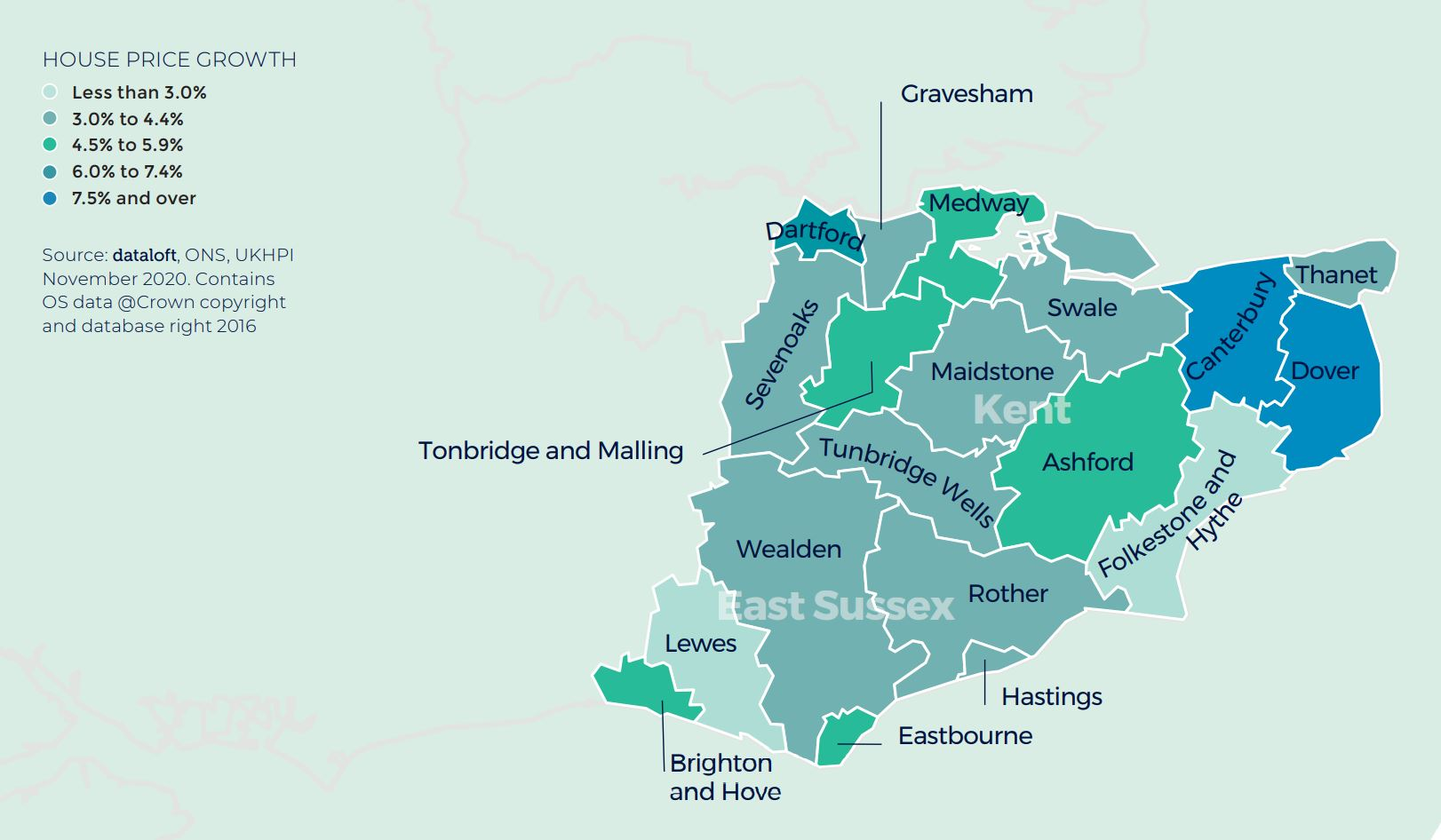 south east home counties kent east sussex regional property market report house price growth
