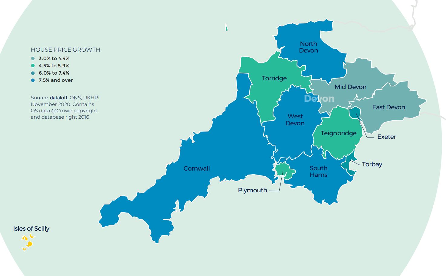 South West regional property market report house price growth