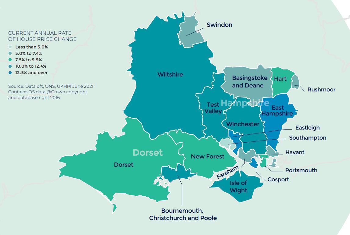 Southern Autumn regional property market report map UK