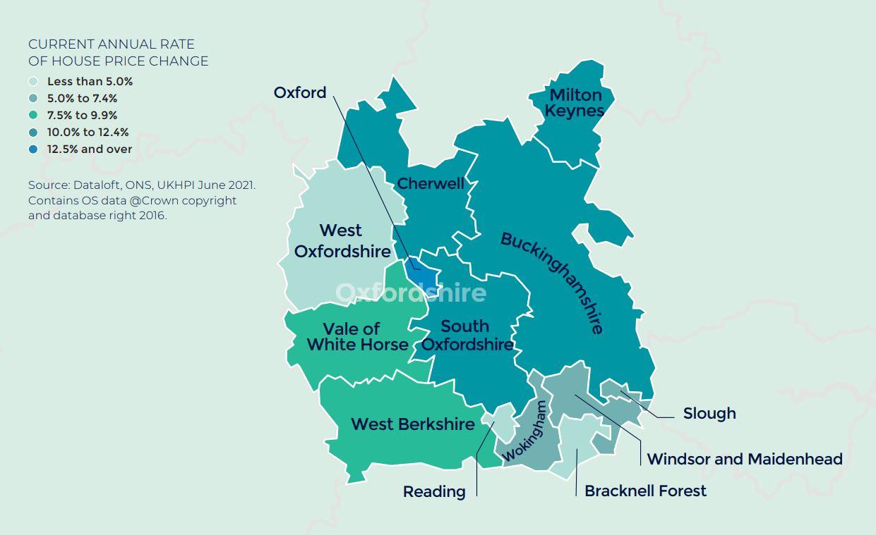 Thames Valley Berkshire Oxfordshire Buckinghamshire Autumn regional property market report