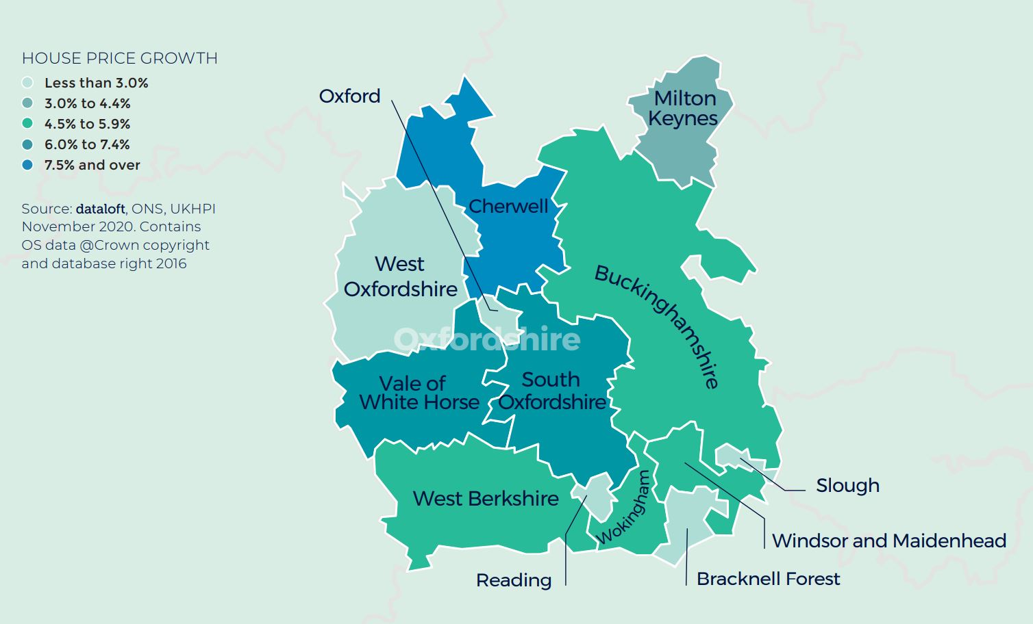 thames valley oxfordshire berkshire regional property market report house price growth