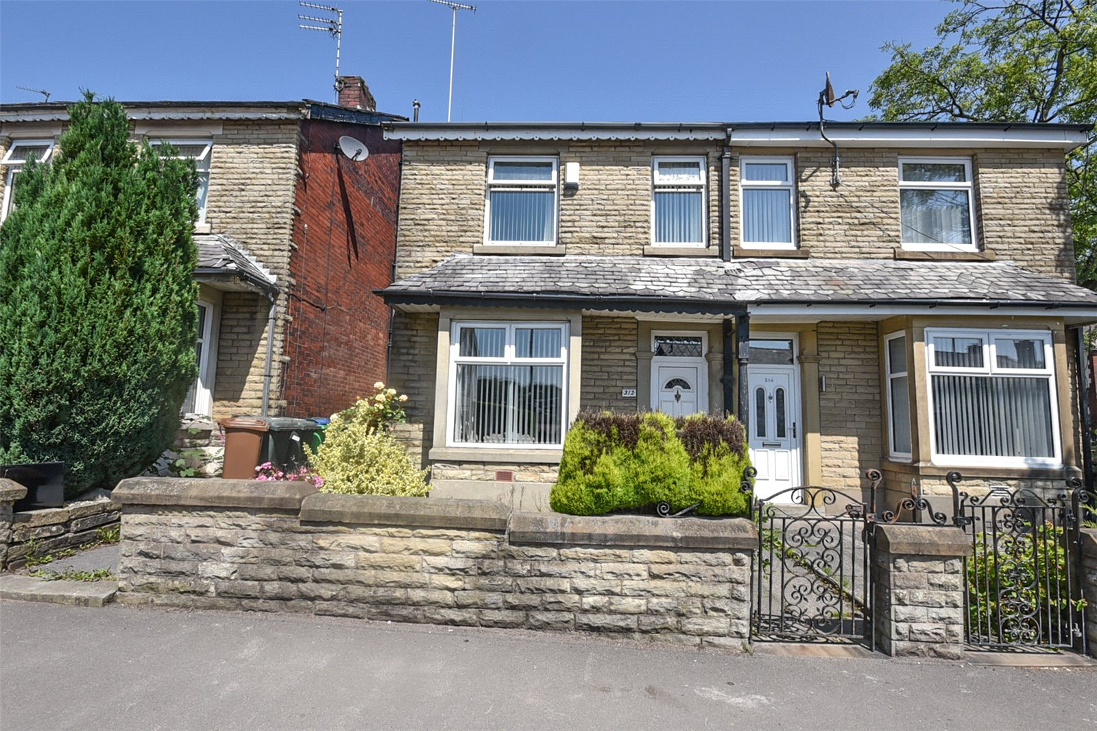 three bedroom terraced stone character house in Rochdale Greater Manchester