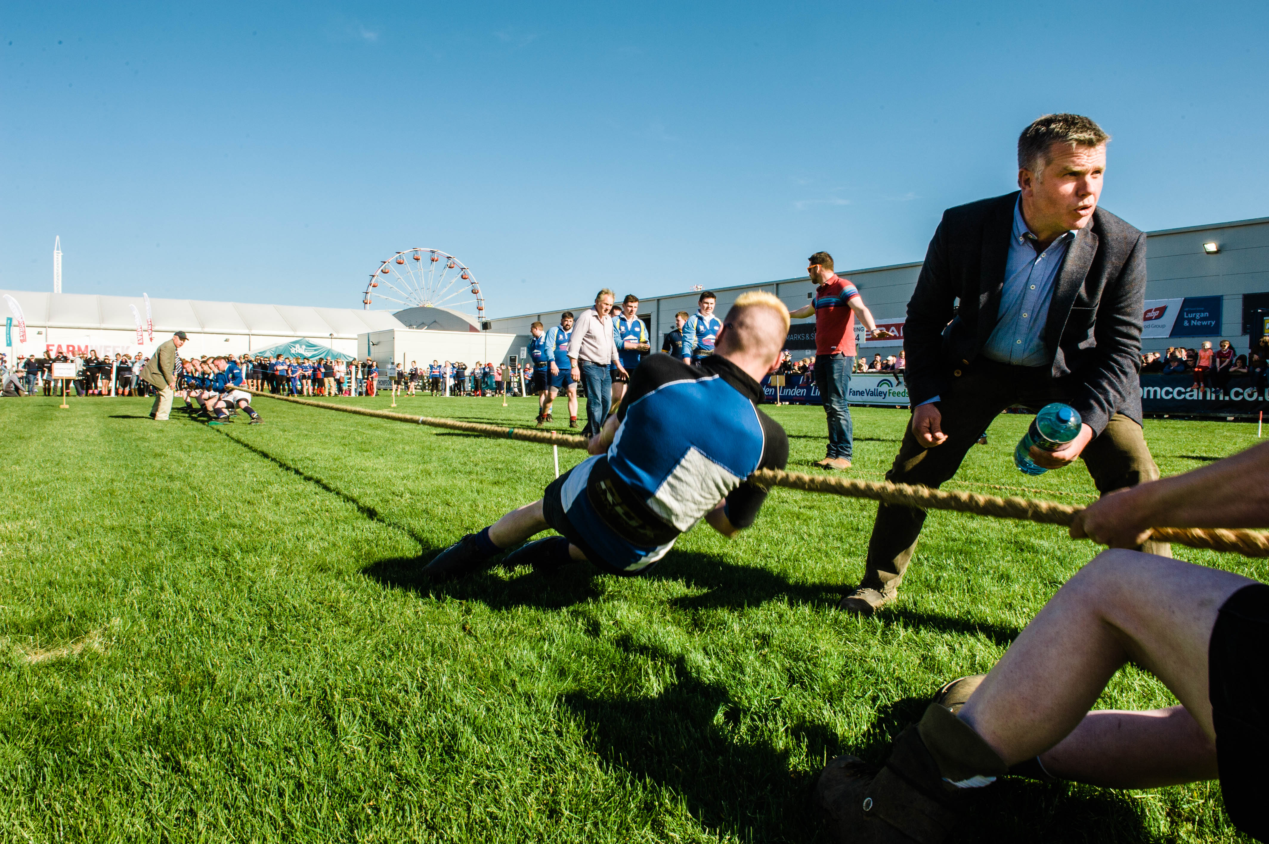 tug of war at The Balmoral Show in belfast