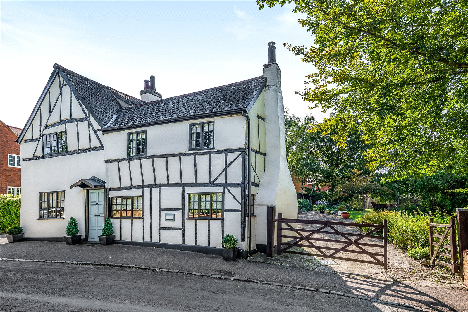 white timber character house in cranfield bedfordshire