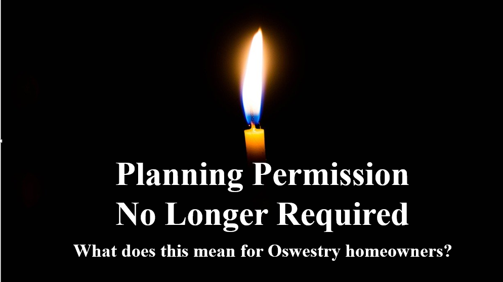 Nimbyism in Oswestry is Dead – Long Live the Planning Permission Rule Changes: