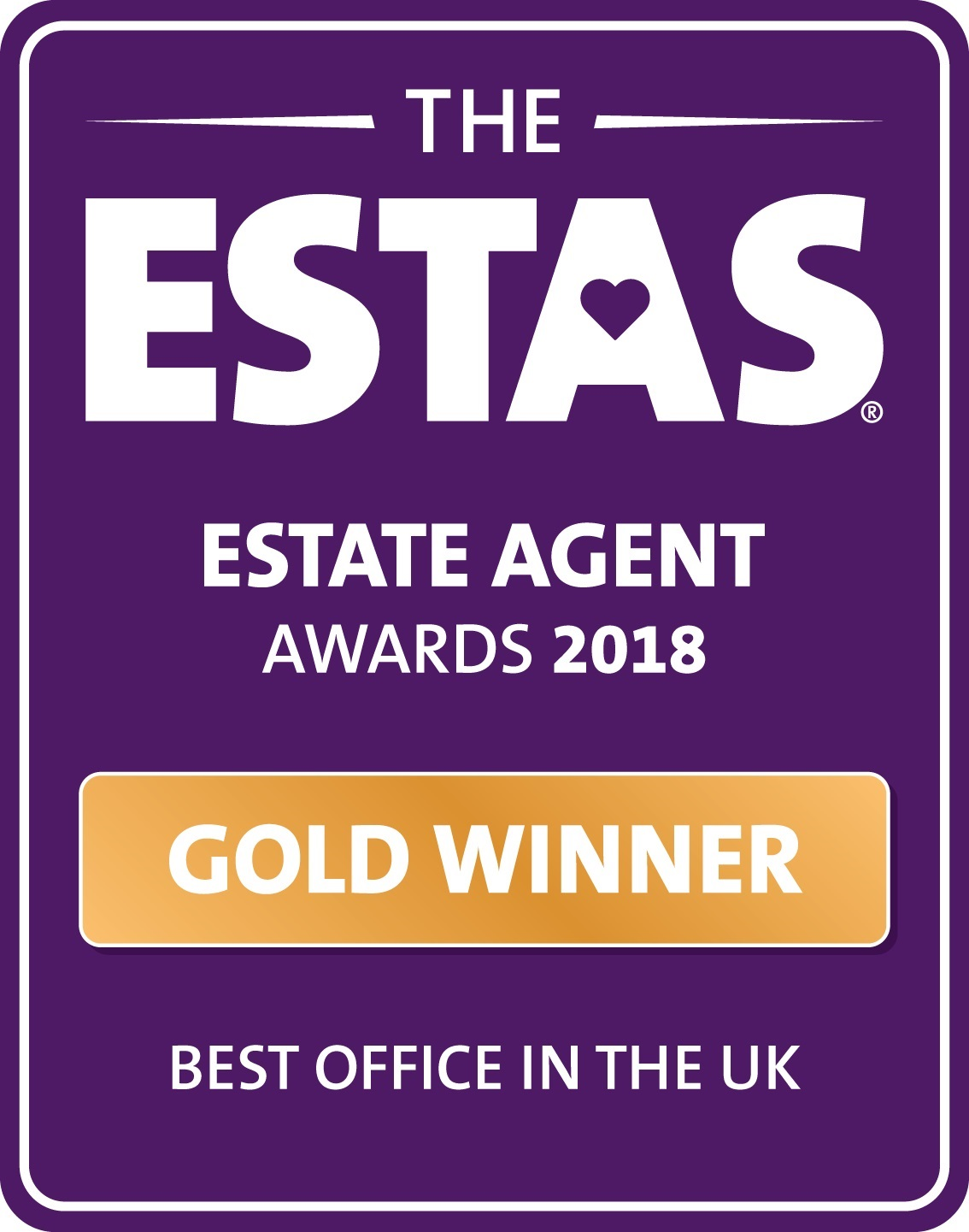 WE HAVE BEEN VOTED BEST ESTATE AGENT IN THE UK 2018