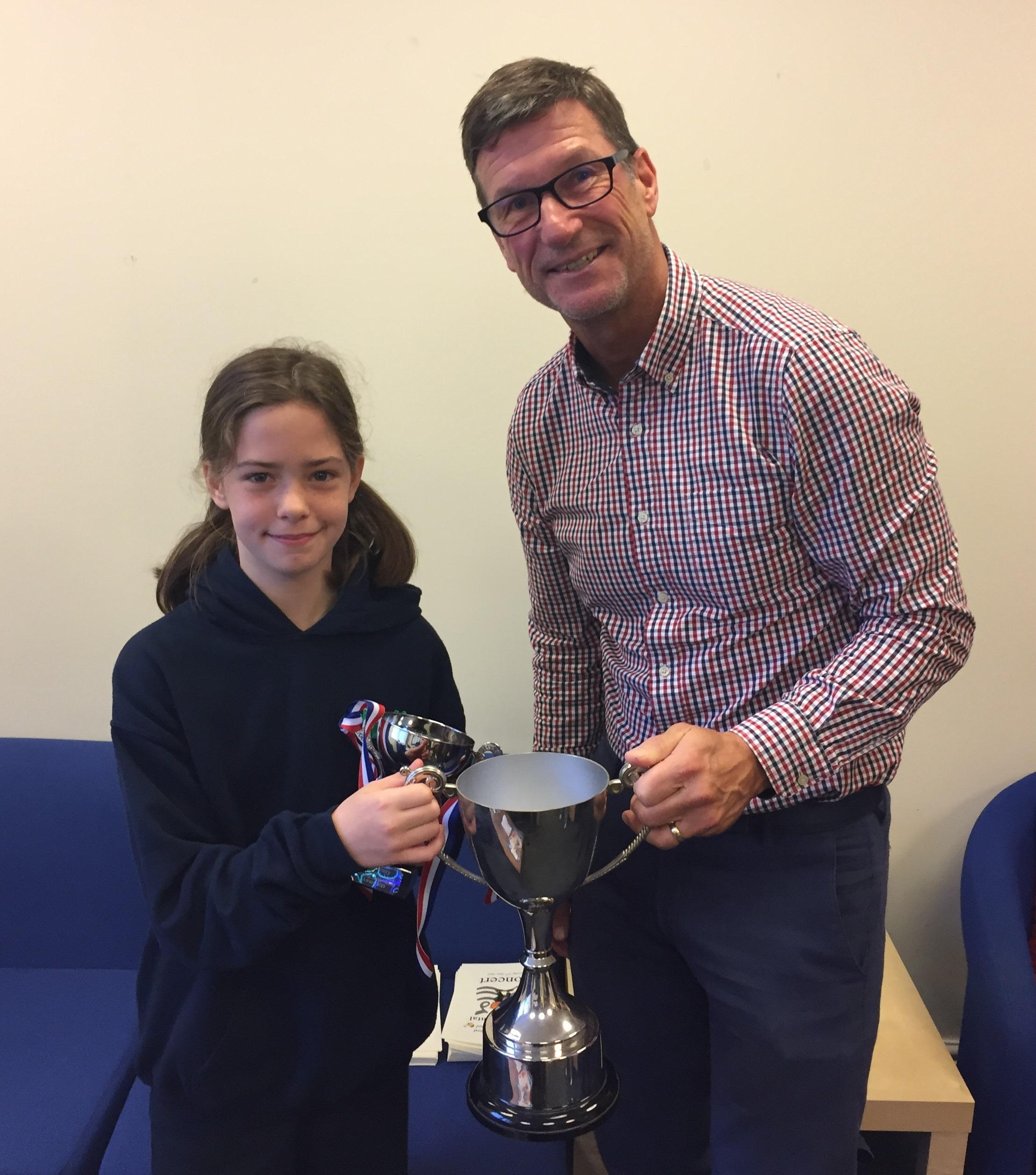 Royston & Lund Sporting Achievement Award at West Bridgford Juniors
