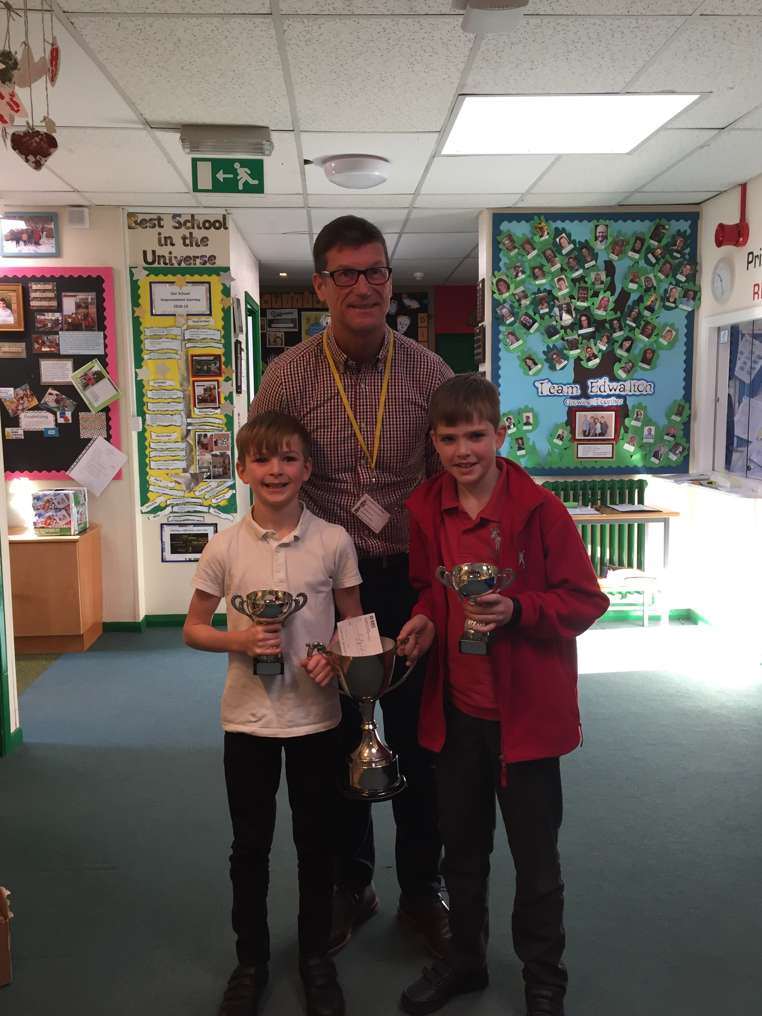Royston & Lund Sporting Achievement Award made at Edwalton Primary School