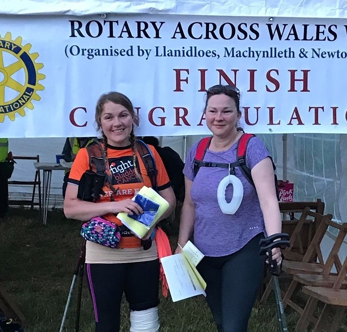 Lucy completes gruelling Across Wales Walk in aid of Wales Air Ambulance