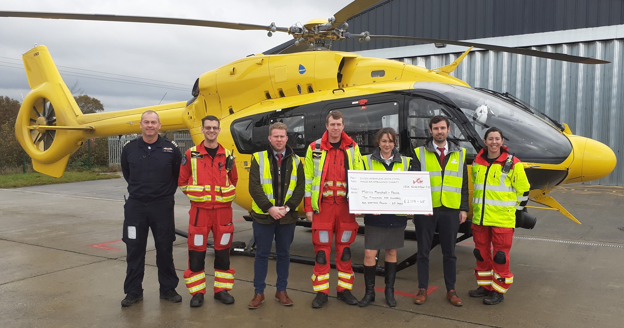 Charity events raise £2,119 for Wales Air Ambulance