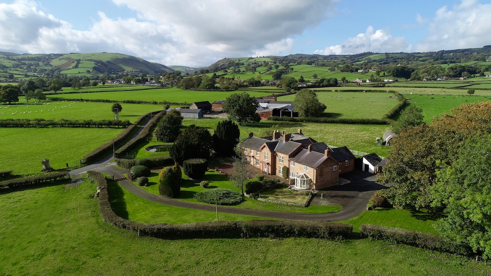 220 acre Mid Wales farm with period residence placed on the market