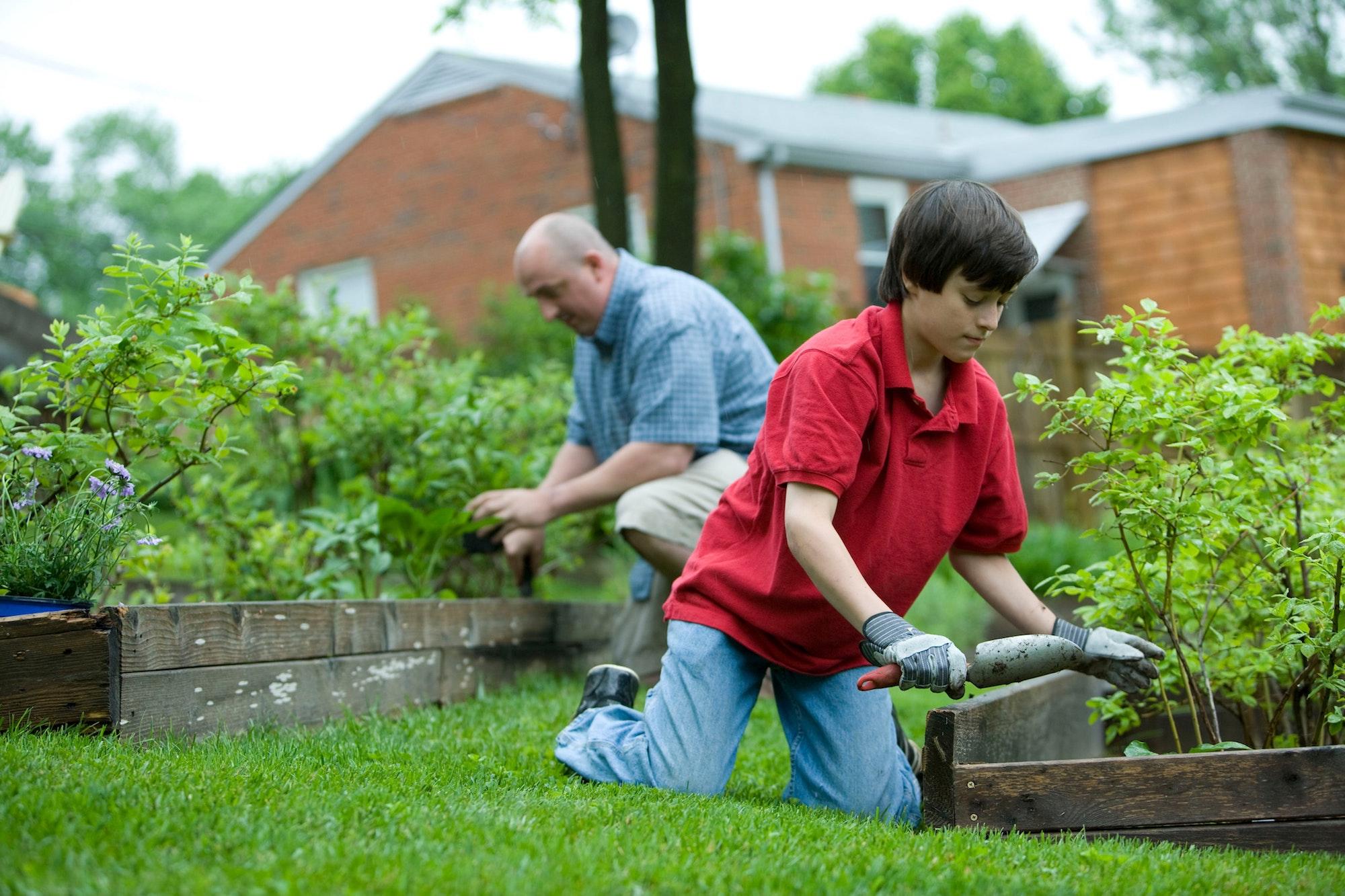 Quality time enjoying your garden