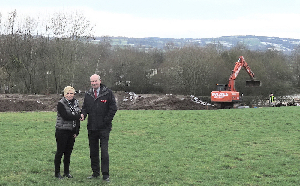 Work on new luxury housing development gets underway in Oswestry
