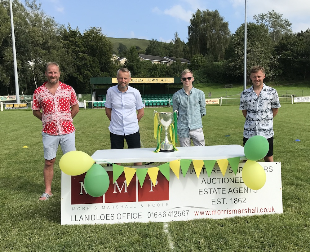 League cup presented to Llanidloes Town FC