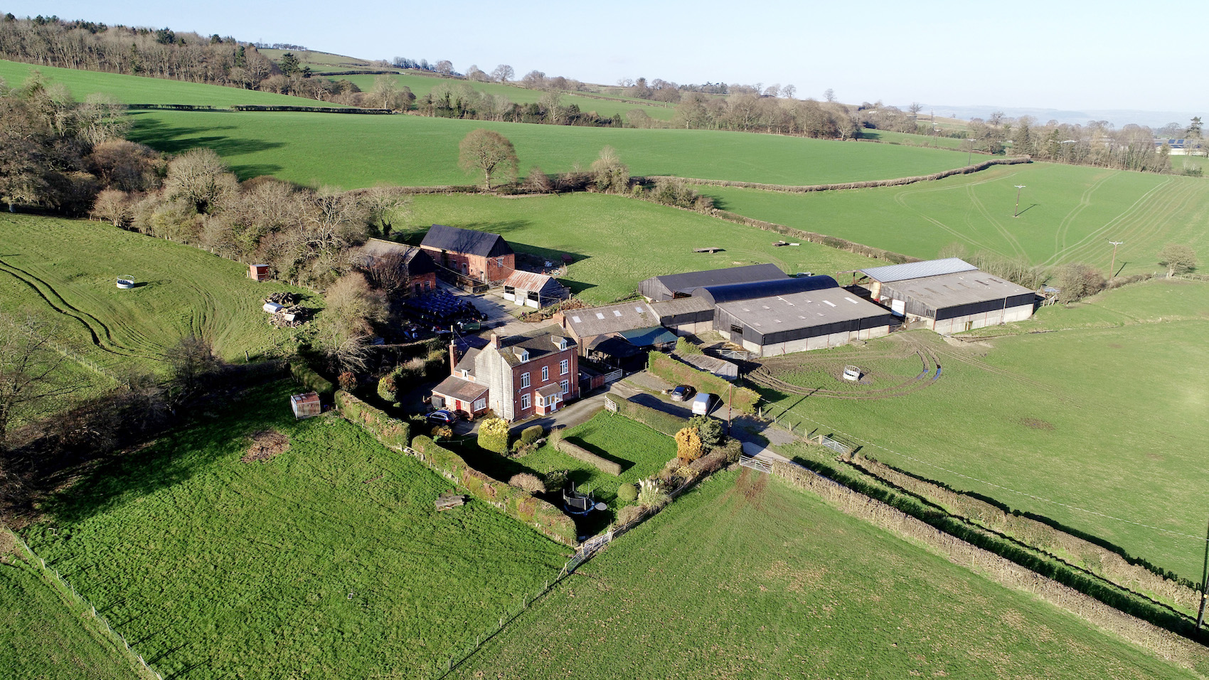 Farm on the Powys/Shropshire with planning permission for two homes to be auctioned