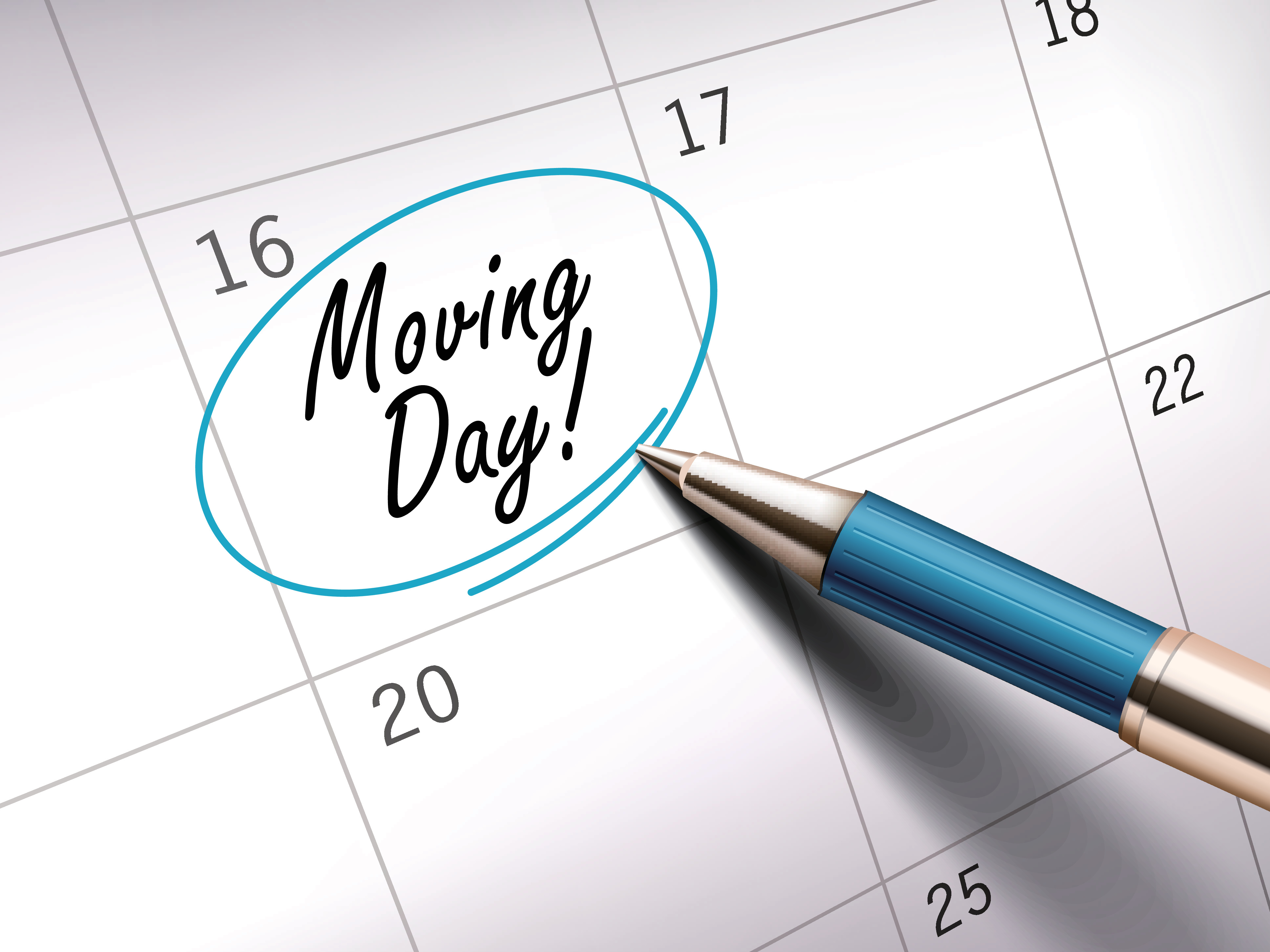 Moving day on calendar
