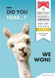 British Property Awards: 2020-2021 Gold Winner Letting Agent Hastings