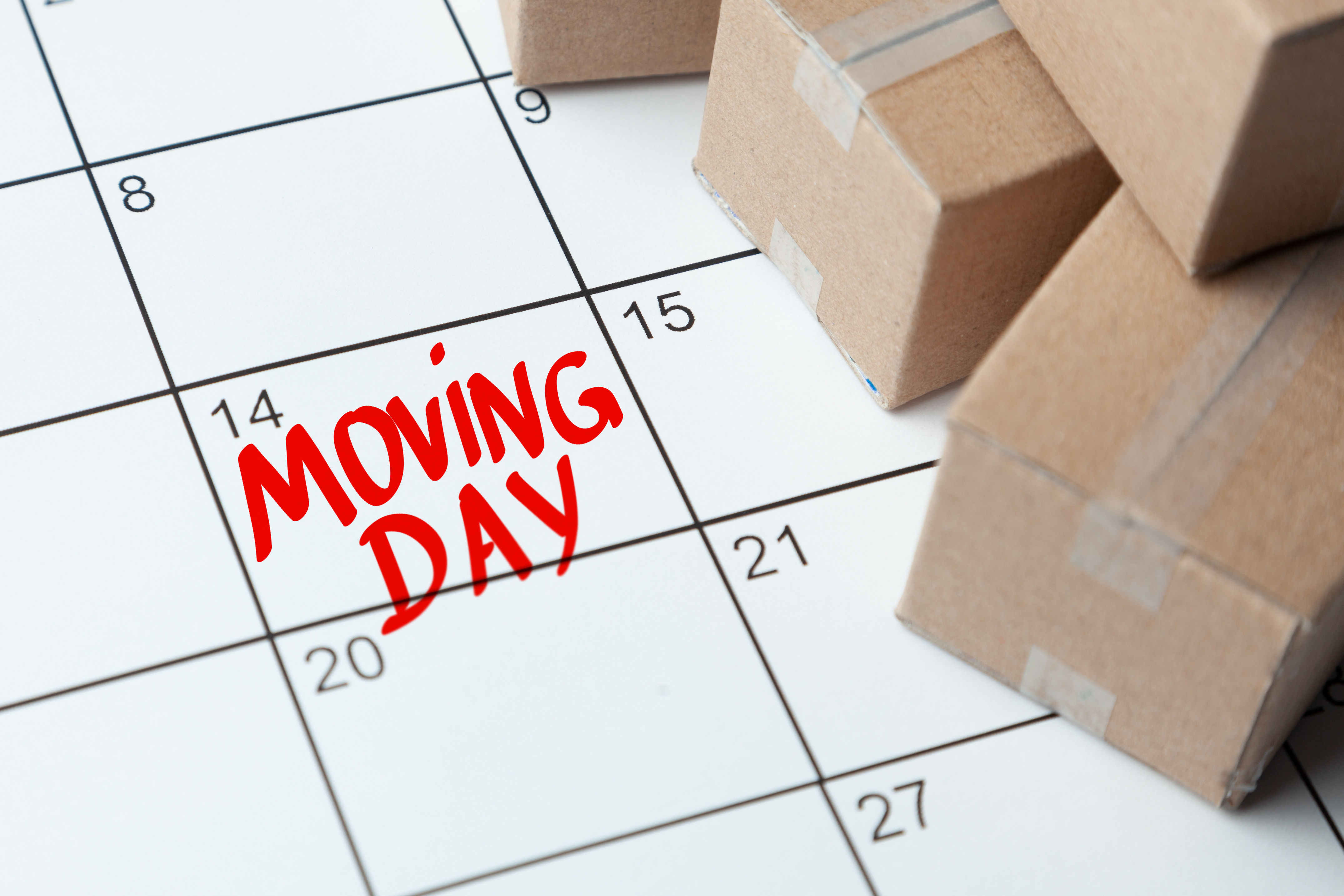 Moving day on the calendar