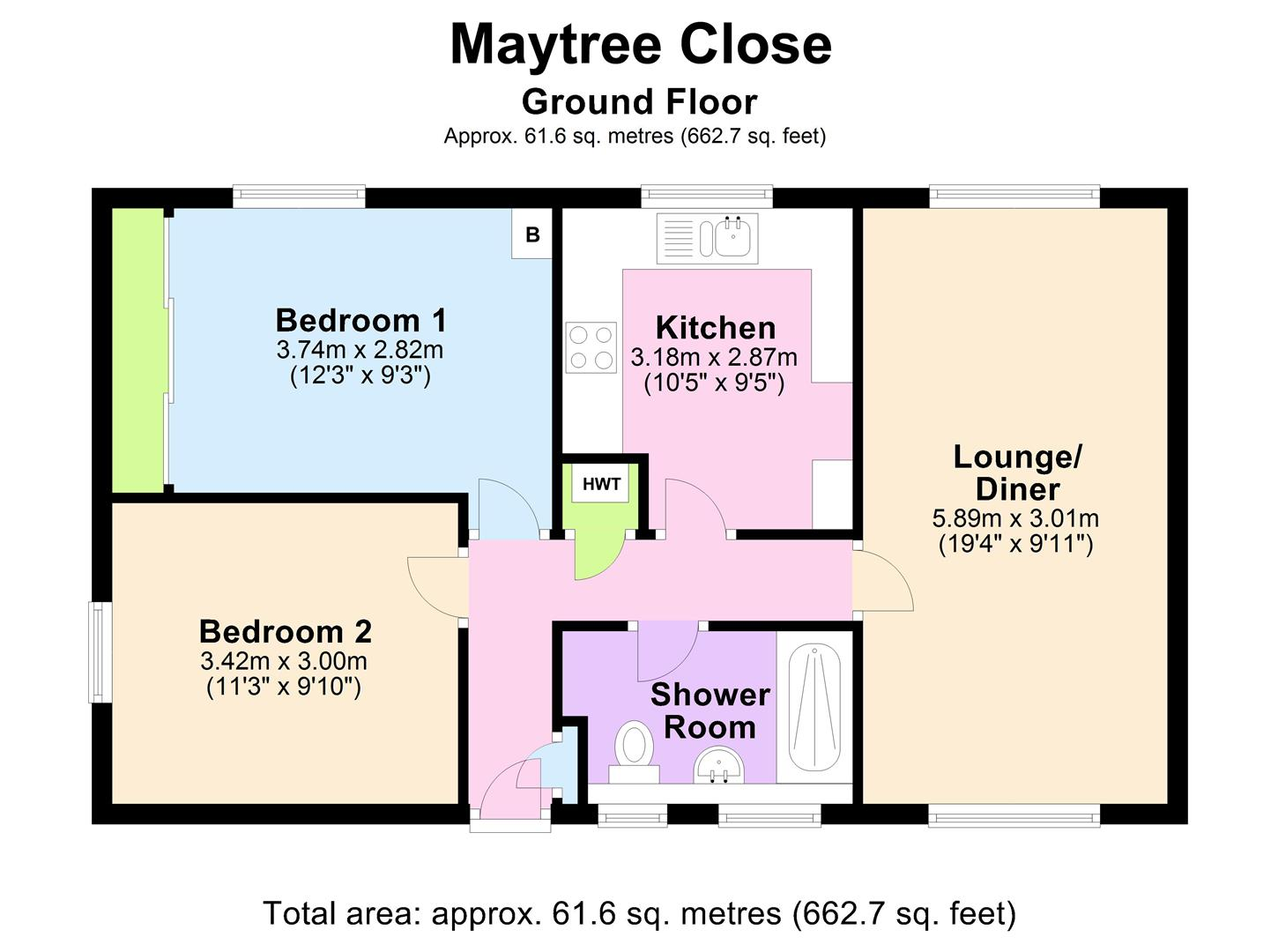 2 bedroom maisonette for sale in birmingham
