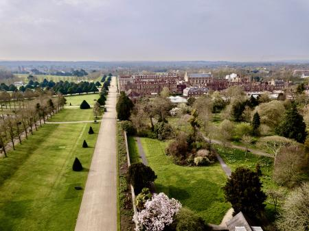 View to Hampton Court Palace