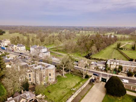 Aerial shot / Ivy House & Bushy Park