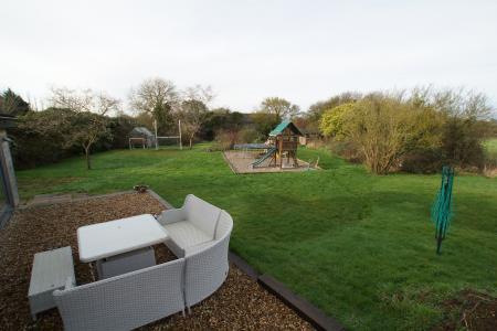 across garden