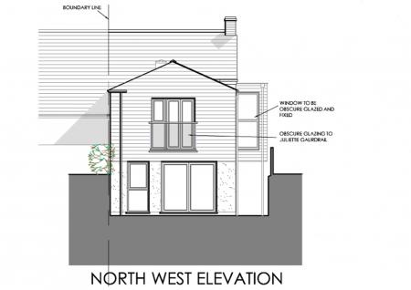 Proposed NW elevation