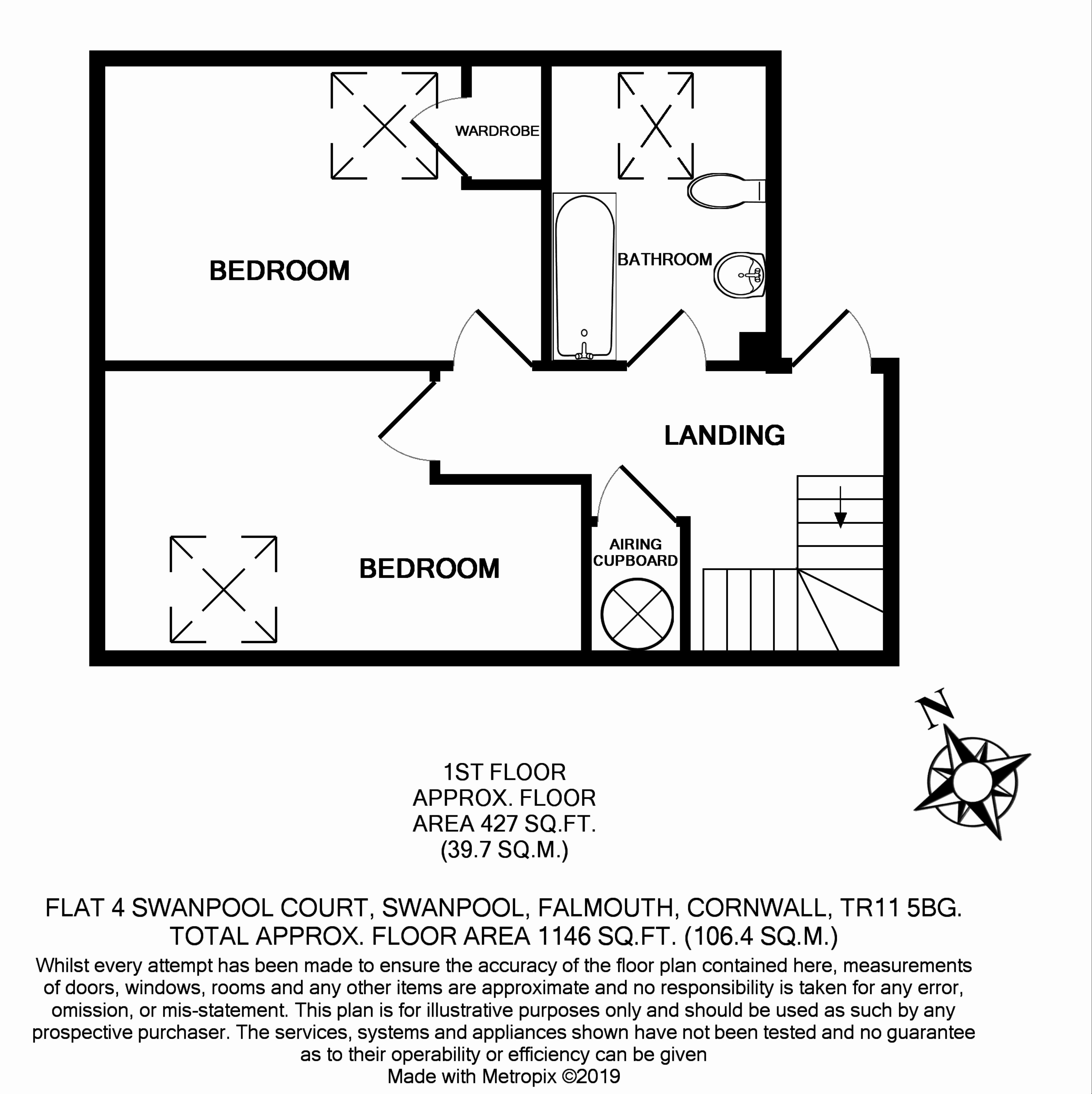 3 bedroom Maisonette for sale in Falmouth