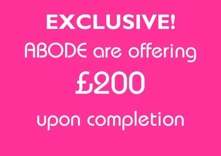 SPECIAL OFFER - only from ABODE