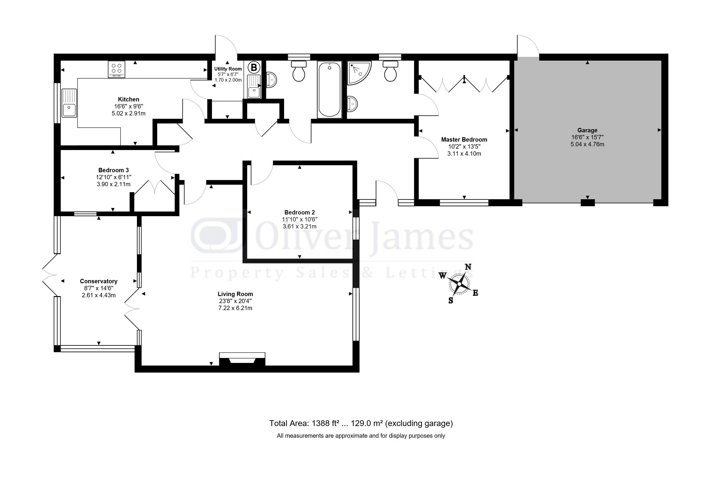 3 Bedroom Detached House For Sale In Huntingdon Schematic Diagram X2 02 Floorplan