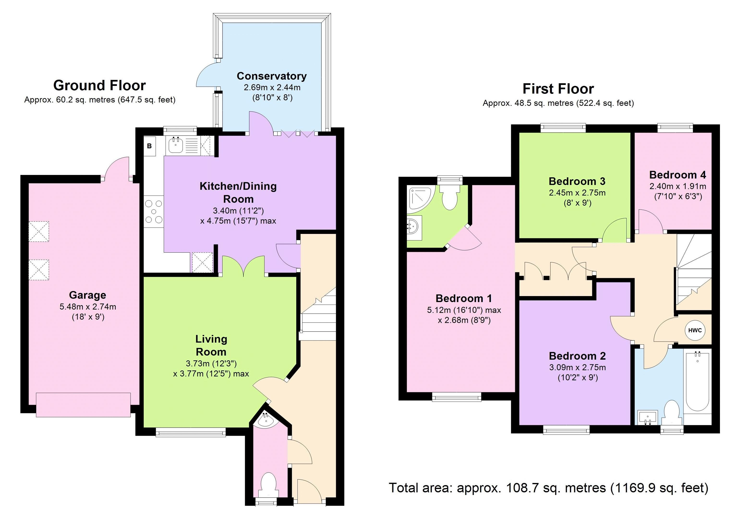 4 bedroom house for sale in henlow for How much is a bathroom worth on an appraisal