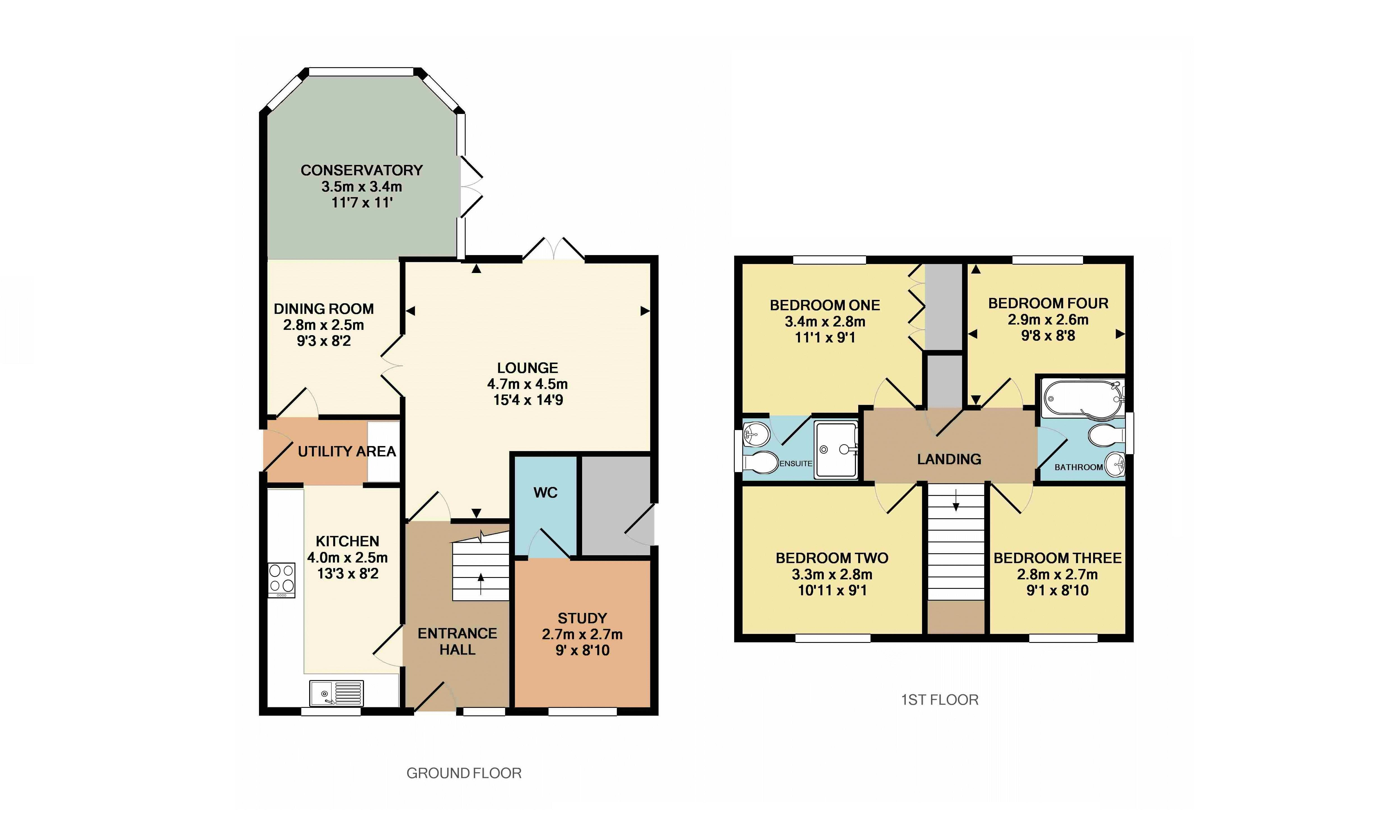 4 Bedroom Detached House For Sale In Dunstable