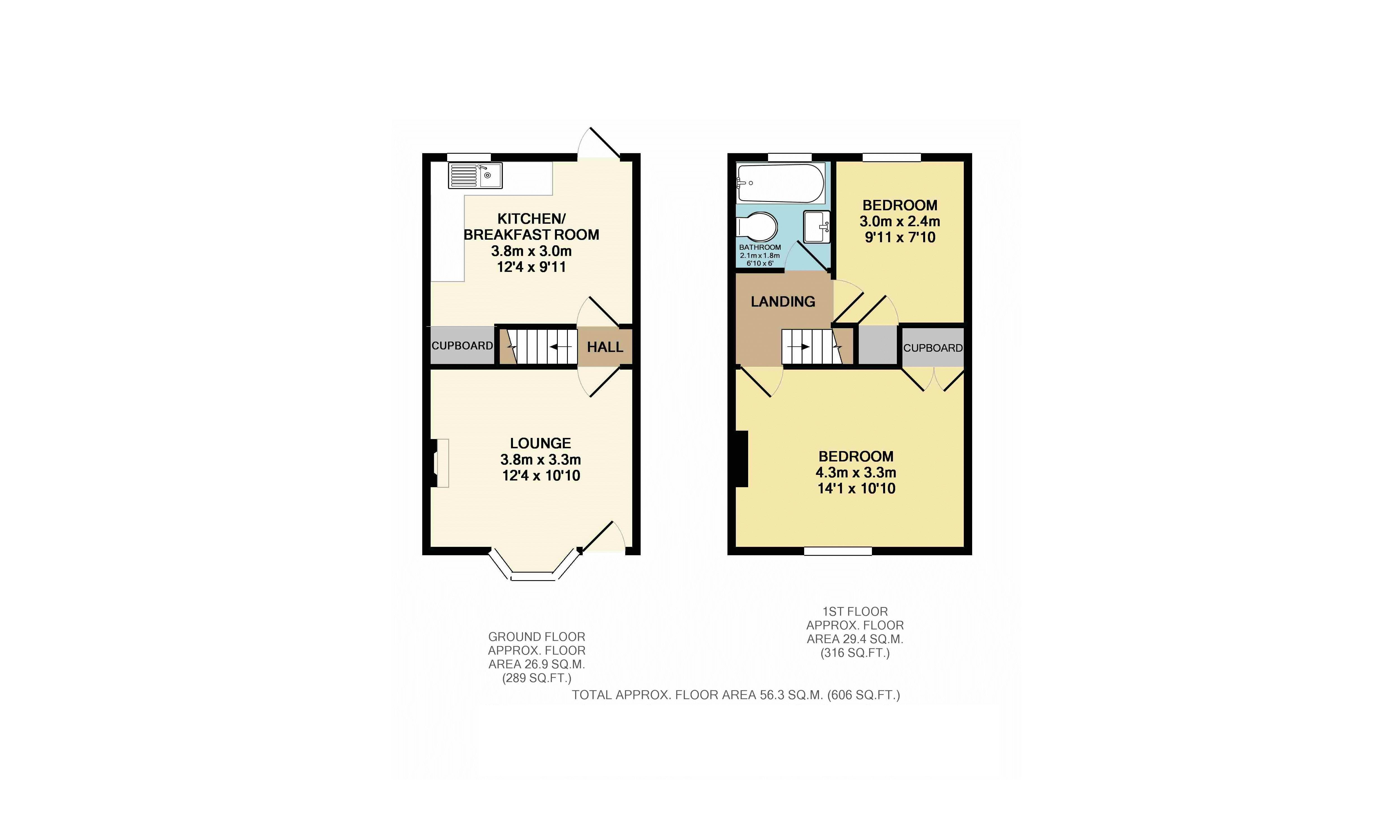 2 bedroom terraced house for sale in leighton buzzard for How much is a bathroom worth on an appraisal