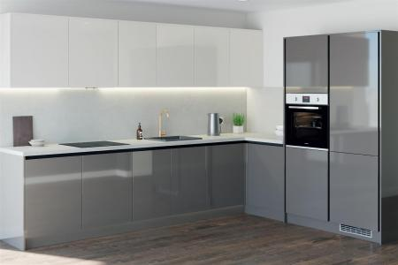 Howdens - Greenwich Gloss Slate Grey - Kitchen Exa