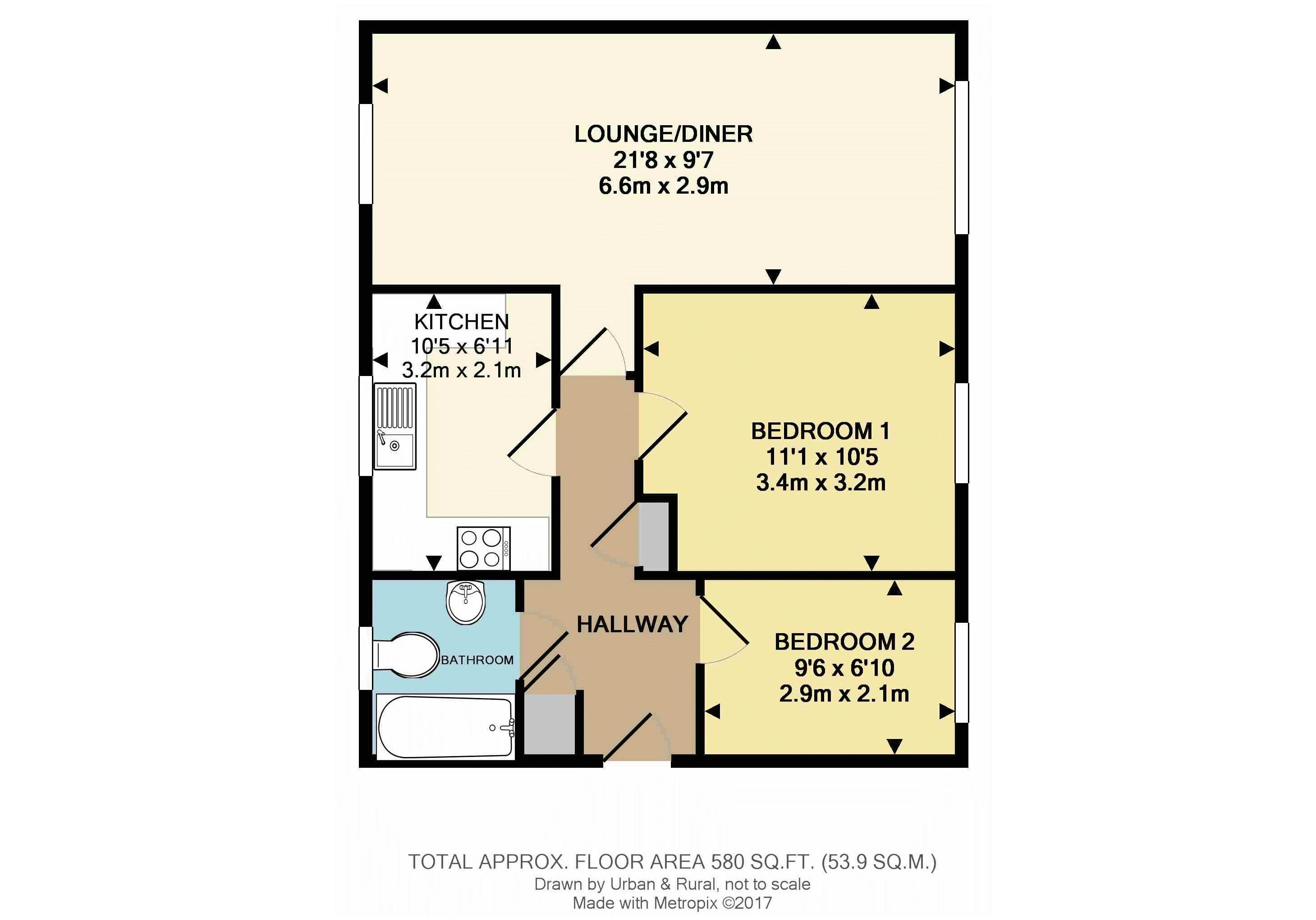 2 bedroom flat for sale in flitwick for How much is a bathroom worth on an appraisal