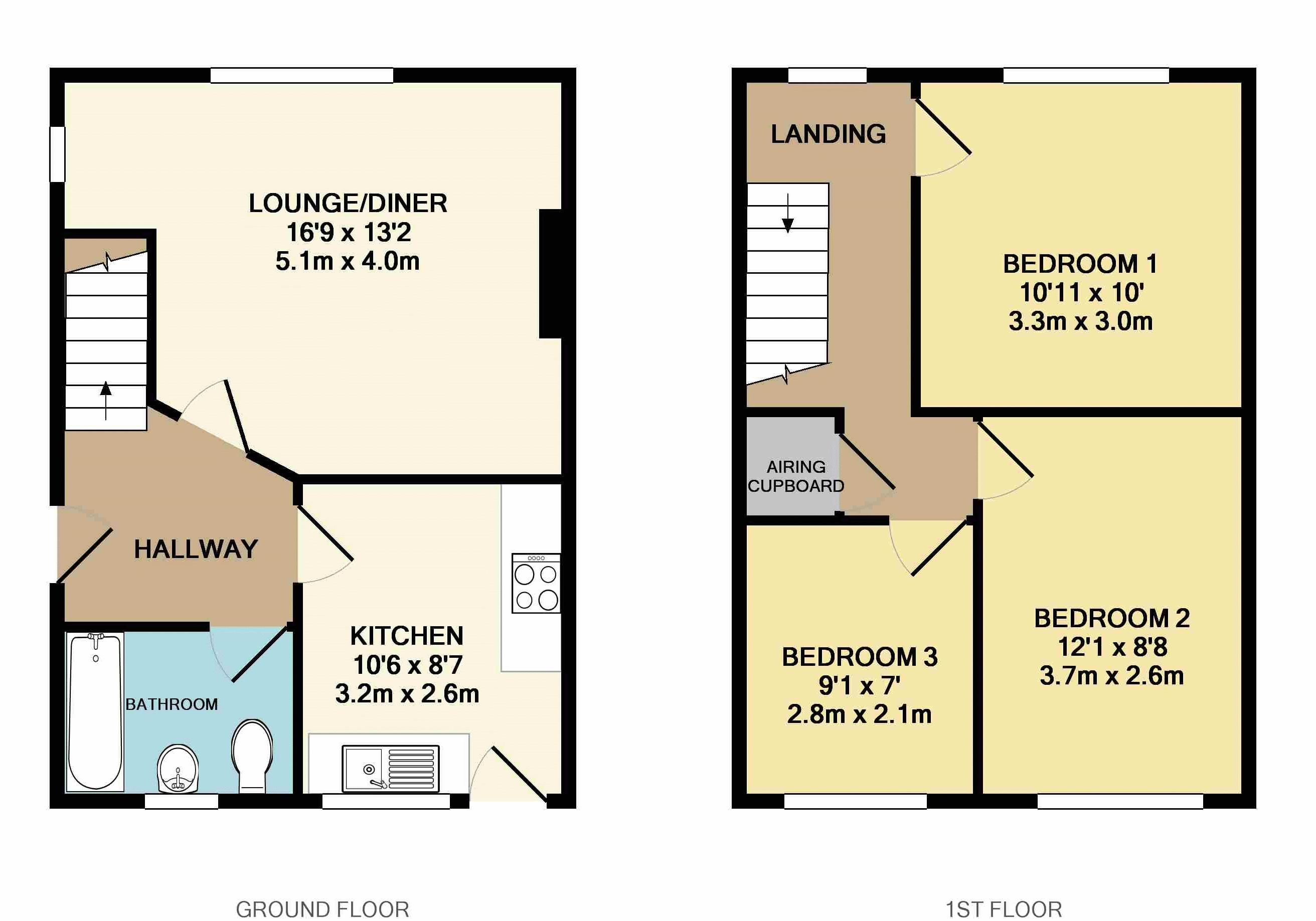 3 bedroom house for sale in barton le clay for How much is a bathroom worth on an appraisal