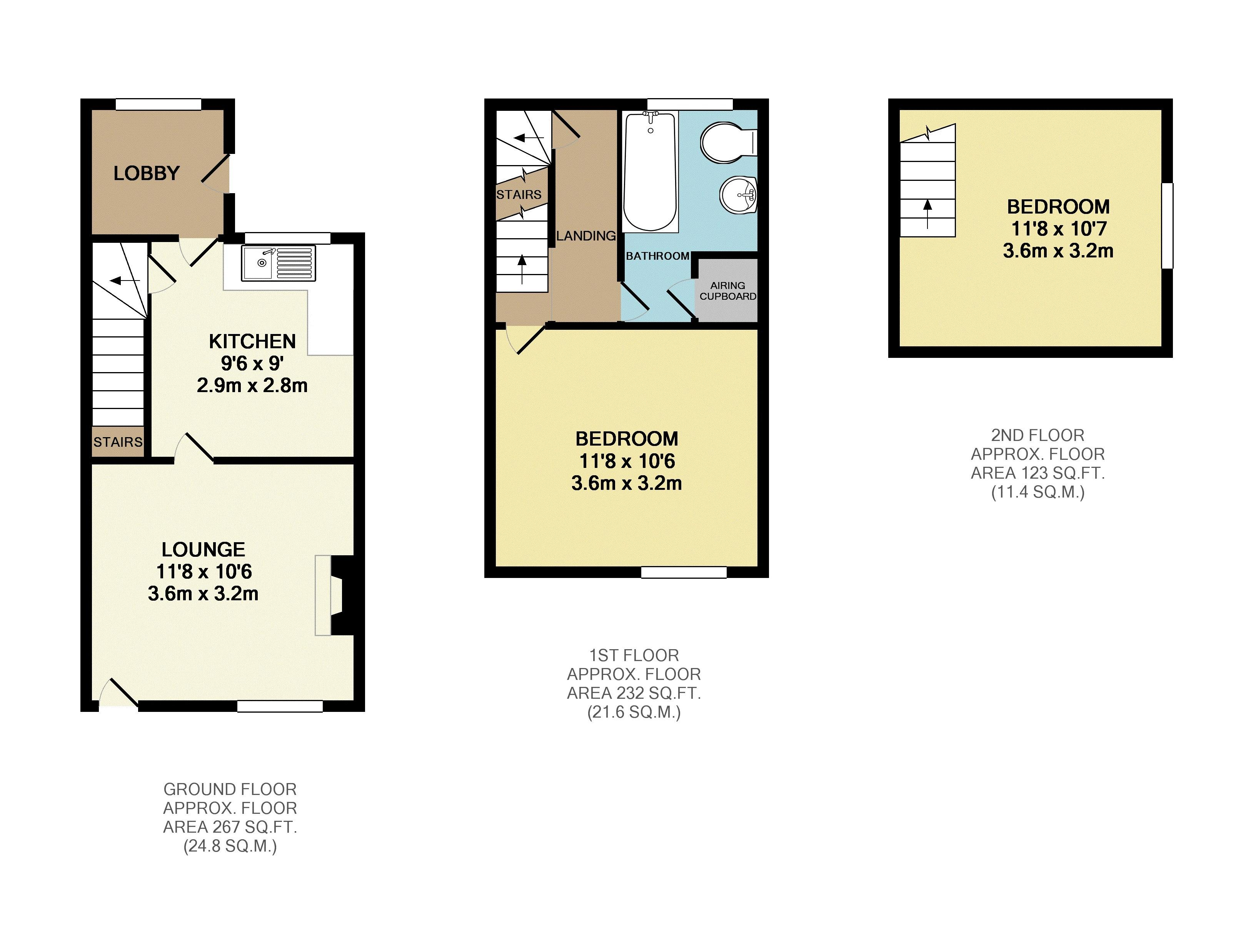 2 bedroom house for sale in ampthill for How much is a bathroom worth on an appraisal